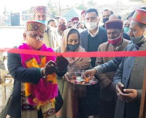 करसोग क्षेत्र के ग्राम  पंचायत चुराग में नवनिर्मित ग्राम पंचायत कार्यालय किया जनता के नाम