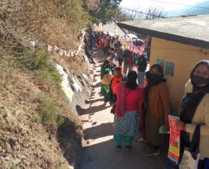 polling-held-in-Dharampur-development-block