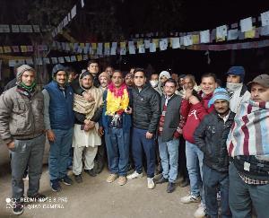 Krishna Dev Gautam became the head of Gram Panchayat Navgaon