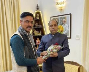 Chairman of the Zilla Parishad mandi met the cm
