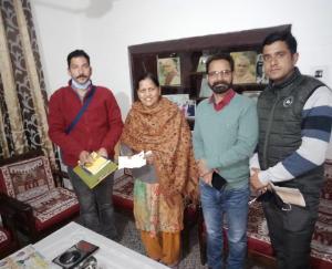 राममंदिर निर्माण के लिए हमीरपुर कृष्ण नगर वार्ड नंबर 1 से 3,50 हजार रुपये भेजे