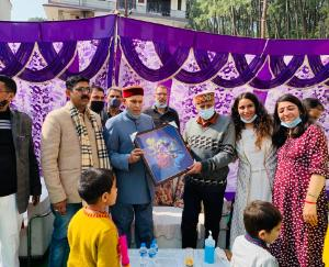Former Chief Minister Prem Kumar Dhumal launched Homeopathy Clinic in Hamirpur