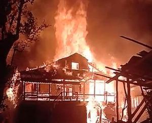Fire incident in village Majhan of Sainj Valley