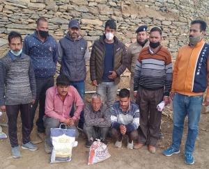 Police recovered 7 kg 190 grams of charas from drug smugglers