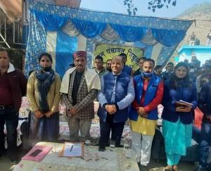 Organized public meeting in the premises of Gram Panchayat Jiyunta