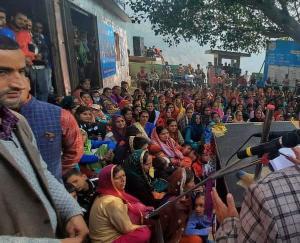 ग्राम पंचायत जियुंता में विधयक विक्रम सिंह जरियाल ने किया जनता को सम्बोधित