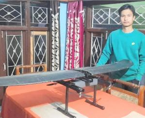 Prabhat Thakur of Himachal Pradesh built the first indigenous drone to fly without a remort