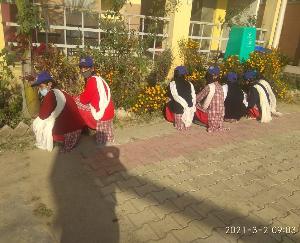 राजा का तालाब की  एनएसएस इकाई ने स्कूल प्रांगण में एक दिवसीय कैम्प का किया आयोजन