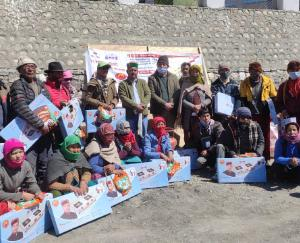 Distributed cylinder and hearth connections under Himachal Pradesh housewife facility in Kaja