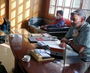 Review meeting held regarding covid-19 in Kandaghat