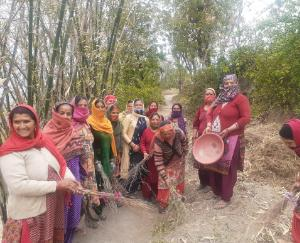 Cleanliness campaign organized in Gram Panchayat Davati