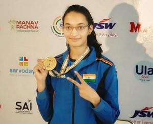 India's Chinki Yadav won gold medal in women's 25 meter pistol