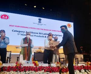 Himachal gets first prize in Progressive Interventions under TB eradication program in the country