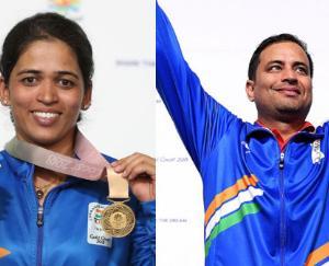 Gold to Sanjeev Rajput and Tejaswini Sawant