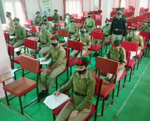 25 NCC cadets of BL School Kunihar gave the exam for
