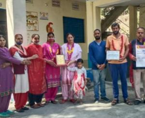 School Management Committee of Government Secondary School, Durwad selected for Outstanding Award
