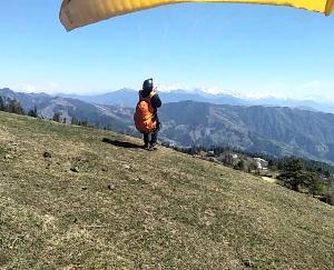 Paragliding trial successful in Devrighat Tikkar