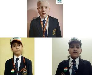 Dadlaghat: Master Moulin Chandel, student of DAV, secured first position in online quiz competition