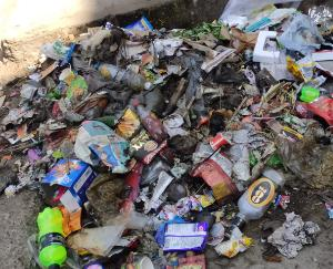 Crispy condition of cleanliness seen at Kunihar's new bus stand