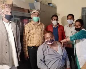 Corona Vaccination Camp organized at Ayurvedic Health Center Mangal