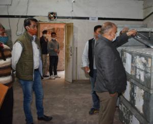 Solan: quarterly inspection of EVM storage room